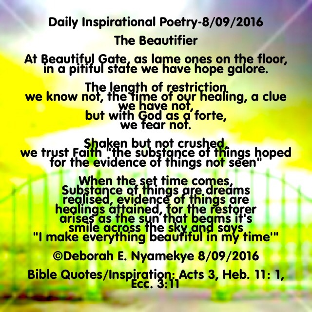 Daily Inspirational Poetry – Manna from on High